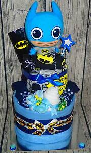 BABY BATMAN NAPPY CAKE- BARGAIN AT $55 SOLD!! Can make to order!! Para Hills West Salisbury Area Preview