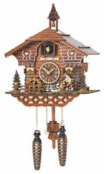 cuckoo clock black forest quartz german  music  bavarian wood chopper new