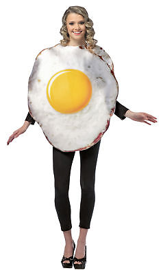 Egg Fried Food Adult Comical Costume One Piece Tunic Halloween Rasta Imposta