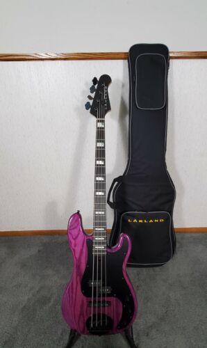 2021 Lakland Skyline 44-64 GZ Bass Guitar-Translucent Purple-Lakland Gigbag