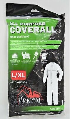 Venom All Purpose Coverall Work Suit Painting Automotive Size Lxl Mono New