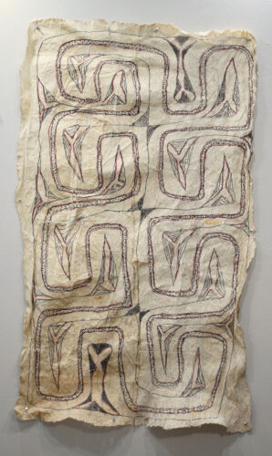 "Papua New Guinea Barkcloth Ceremonial Baining Cloth Tapa Cloth 50"""