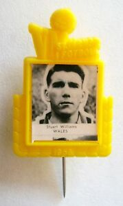 Vintage-1958-World-Cup-Badge-Stuart-Williams-Wales-WBA-West-Brom-Pin-Southampton