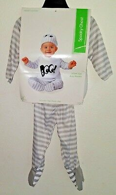 "3 6 Month Pirate Costume (Seasons USA ""Spooky Ghost"" Infant Costume / Pajama Set Size 6-12 Months 3)"