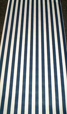 Navy Stripe Wallpaper - Classic Navy Blue & Off White Stripes by York SP7406