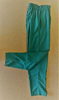 Scrub Pants Hunter Green M Top Line TL201 Uniform Elastic Waist Side Pkts New ()