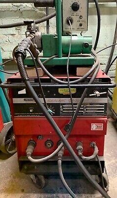 Lincoln Idealarc Digital Mig Welder Cv-300 W Linde Feeder Mig-35 101560