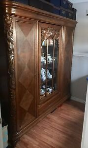 oak display cabinet made in Germany
