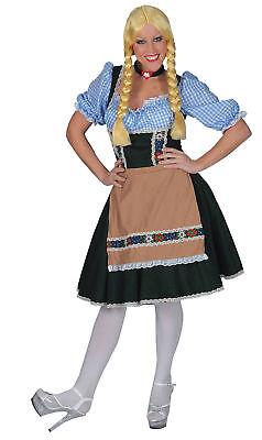 Salzberg Kleid mit Hemd Erwachsene Damen Kostüm Oktoberfest Beer Damen Halloween (Erwachsenen Salz Kostüme)