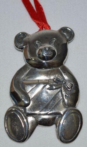 Hand & Hammer Sterling Teddy Bear Ornament NEW XOS2280