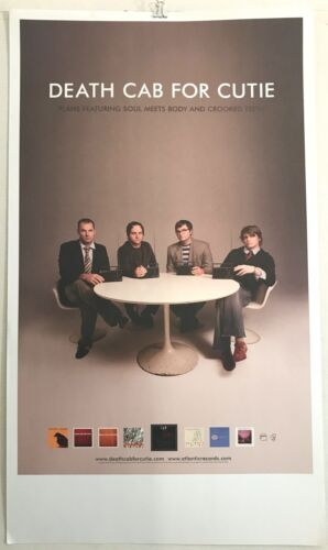 """RARE 2005 Death Cab For Cutie PLANS 11"""" x 19"""" PROMO poster EXC VG CONDITION"""