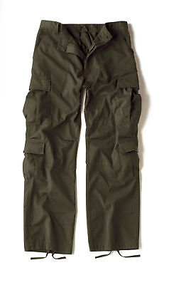 Olive Drab Vintage Military Paratrooper Tactical BDU Fatigue Pants Rothco 2786 - Bdu Oliv Drab