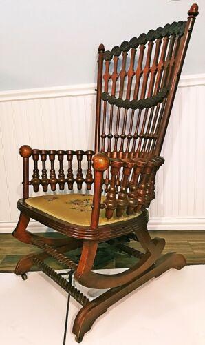 Rocking Chair Hunzinger Lollipop Platform High Back Antique