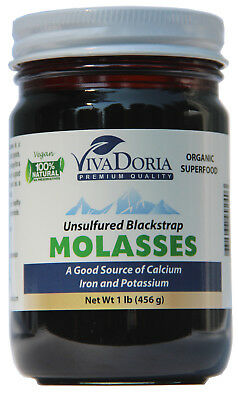Organic Unsulfured Blackstrap Molasses   1 Lb Glass Jar