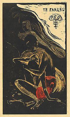 Gauguin Woodcuts: Here We Make Love - Fine Art Print