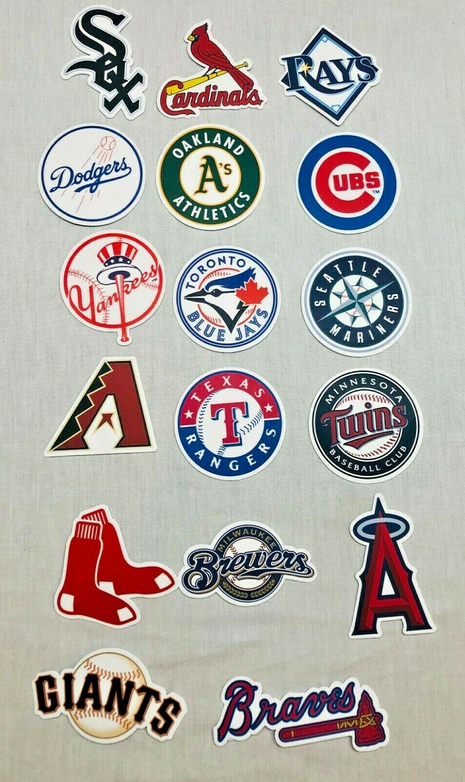 mlb baseball team decal sticker car decal
