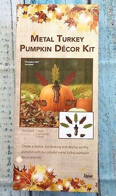 Decorate A Turkey (Alpine Pumpkin Leaf Turkey Kit Fall Decoration Assorted 5 in.)