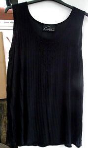 FRANK USHER TOP LIGHT KNIT TOP BEAED DETAIL SIZE XL