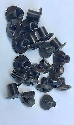 "Chicago Screws For Holster Sheath Making 3/8 "" Black Oxide Slotted Post 10 Pack"