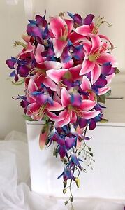 New, silk wedding bouquet, lily, orchids Tarneit Wyndham Area Preview