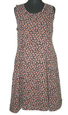 BORIS INDUSTRIES TOLLES TRÄGER KLEID EMPIRE STIL GR.48 (5) FLORAL PINK Floralen Stil Kleid