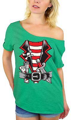 PIRATE HALLOWEEN COSTUME Off Shoulder top T-SHIRT Happy Halloween Pirate Shirt