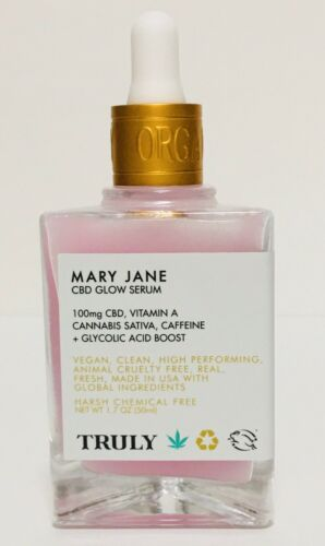 NEW Truly MARY JANE GLOW SERUM Hemp, Vitamin A, Caffeine, Gl
