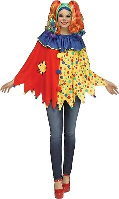 Womens Clown Costumes (Adult Clown Poncho Costume One)