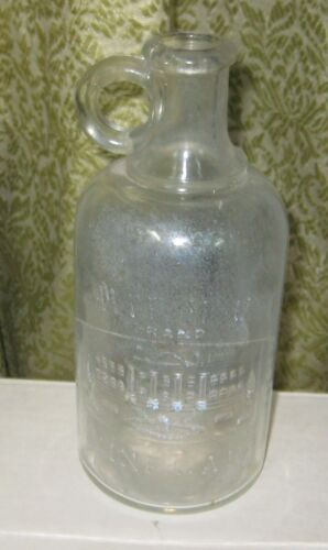 135G-1 WHITE HOUSE VINEGAR BOTTLE 7 IN TALL, MAR 6, 1909 ON BASE, CHIP ON EDGE O
