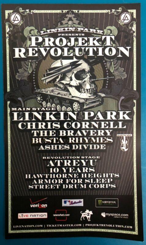 Projekt Revolution 2008 Promo Flyer Handbill Linkin Park Chris Cornell