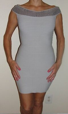 New Womens Guess Dress SEz S Tan Beige Boat Neck Sleeveless Sheath Dress