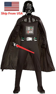 Darth Vader Star Wars Adult Costume Cosplay Costume Halloween Black - Darth Vader Halloween Costume