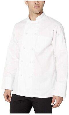 Chef Works Mens Bordeaux Chef Coat White X-small