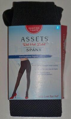 SPANX Assets Red Hot Label Spandex HERRINGBONE SHAPING TIGHTS Brown Size 2 NIB Spanx Spandex Tights