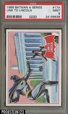 1966 Topps Batman A Series #17A Link To Lincoln PSA 9 MINT