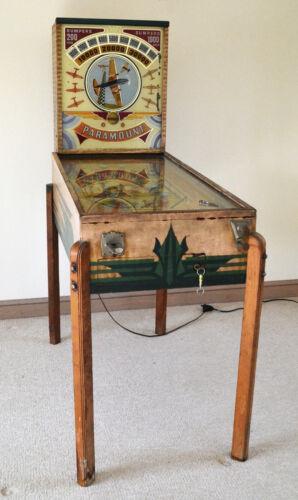 Vintage Bally Paramount Air Race Pinball Machine