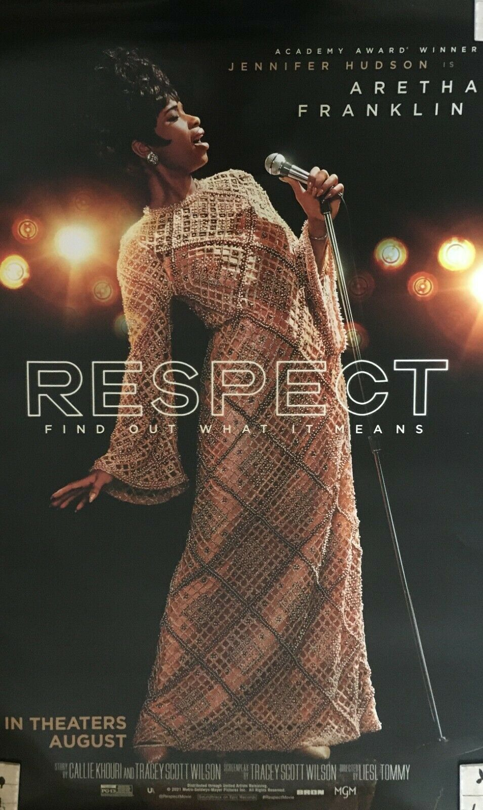RESPECT 27x40 Original Theater Release Double Sided Movie Poster Aretha Franklin - $19.99