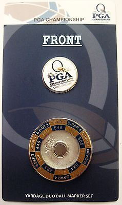 2017 PGA @ QUAIL HOLLOW CC, MONDOMARK, YARDAGE DUO DOUBLE-SIDED BALL MARKER SET