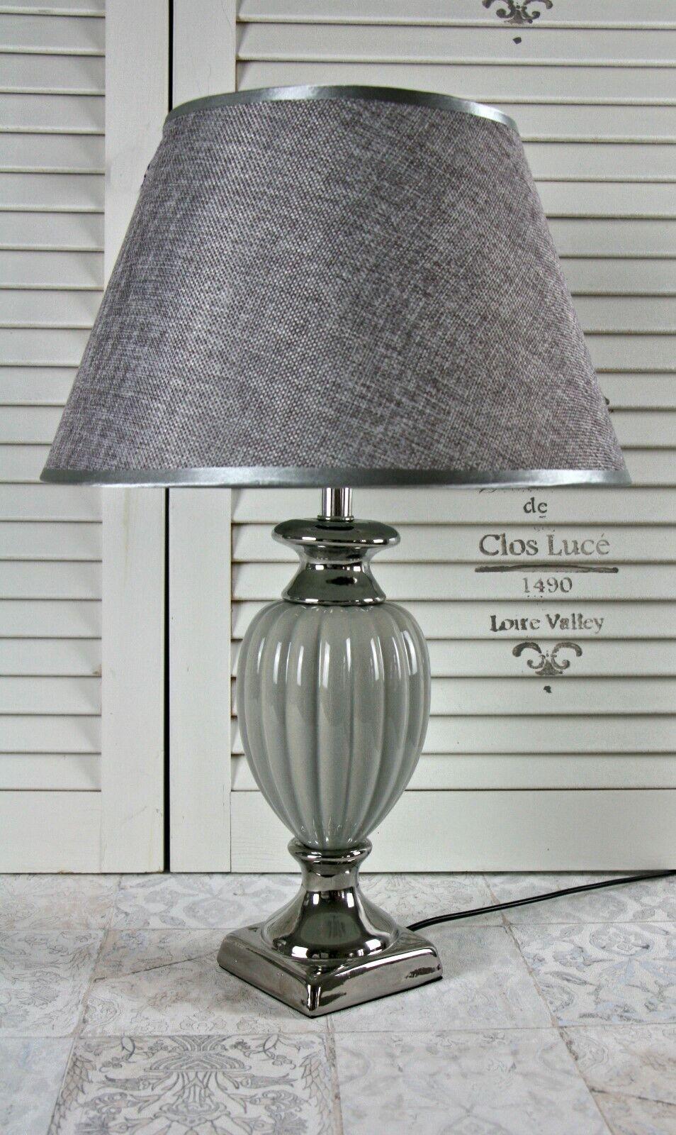 Home Art Design Lampenschirm Stoff Tischlampe Landhaus Schirm Shabby Chic WOW