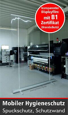RollUp 150 x 200cm, Hygieneschutz, Spuckschutz, Raumteiler transparent, Banner