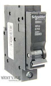Schneider - QO110VSC10 - 10a Type C Single Pole MCB Latest QO Model Unused