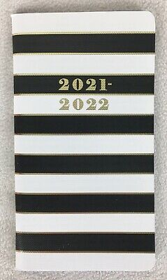 2021 2022 Stripe Monthly 2-year Pocket Planner Calendar Agenda 3.75x6.75