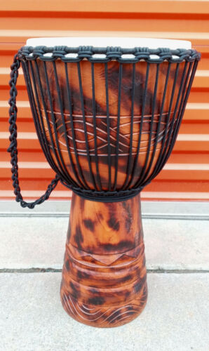 SALE ! PRO DJEMBE 24 x 14 DEEP CARVED DJEMBE DRUM BONGO M19 + FREE COVER