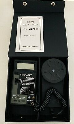 Yfe Digital Light Meter Yu Fong Digital Lux Hi Tester Yf-1065a New
