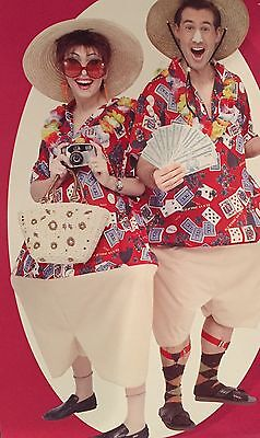 TACKY TOURIST 'VEGAS ADVENTURE' GAMBLERS FAT COSTUME FOR 1 PERSON-NWT (Tacky Tourist)