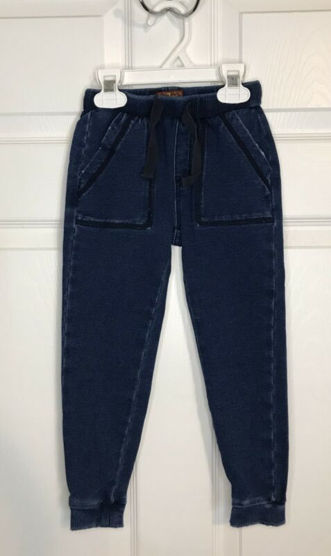 7 For All Mankind Toddler Boys Blue Stretch Jogger Style Jeans Size 4T