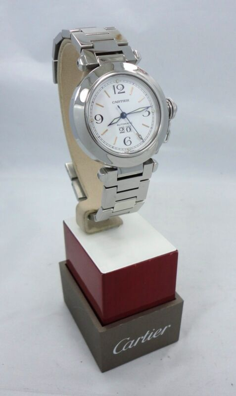 CARTIER PASHA C AUTOMATIC 35mm STAINLESS STEEL MINT CONDITION REF# 2475
