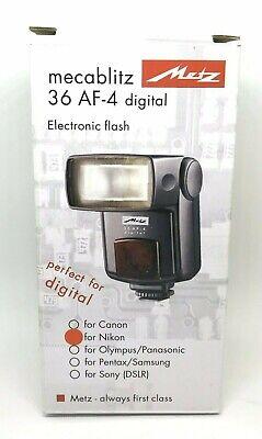 Flash Metz 36 AF-4 - per NIKON - flash esterno come NUOVO