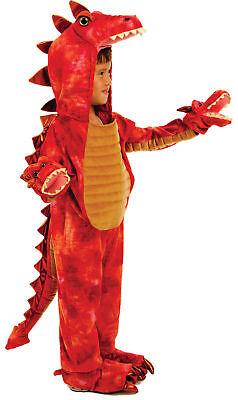 Hydra 3 Drachen Kleinkind Kind Kostüm Rot Dinosaurier Overall Halloween ()