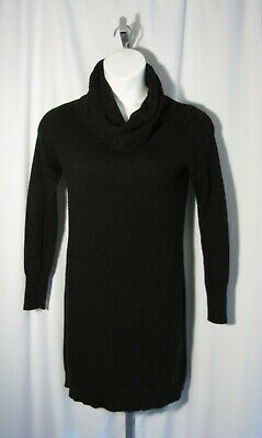 Banana Republic Medium M Black Wool Cashmere Blend Sweater Dress Cowl Neck